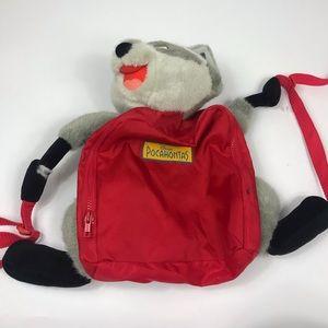 Pocahontas Meeko Children's Backpack Vtg Bag